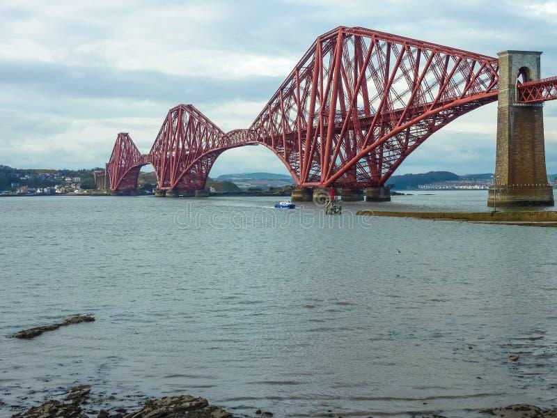 Вперед железнодорожный мост, Шотландия стоковая фотография