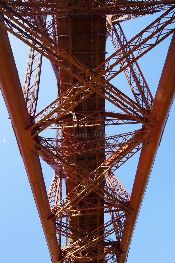 Вперед мост рельса от южного Queensferry, Шотландии стоковые фотографии rf