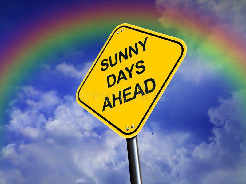 вперед дорожный знак дней солнечный бесплатная иллюстрация