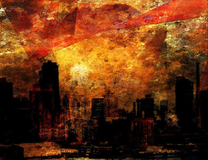 впечатление города иллюстрация штока