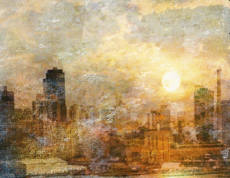 впечатление города иллюстрация вектора
