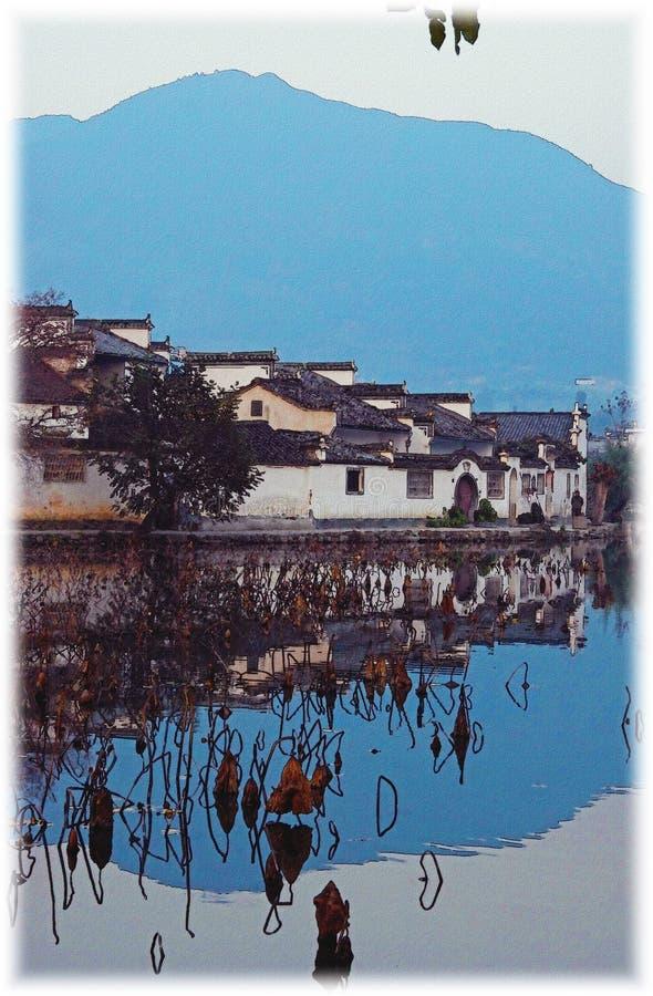 впечатление hongcun фарфора anhui стоковые фото