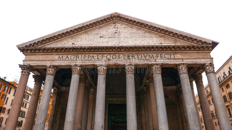Download Впечатляющее здание пантеона в историческом центре города Рима Стоковое Изображение - изображение насчитывающей урбанско, ведущего: 81809107