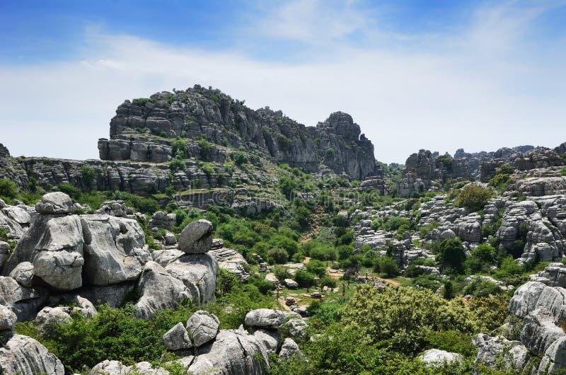 Впечатляющий ландшафт karst стоковое фото rf