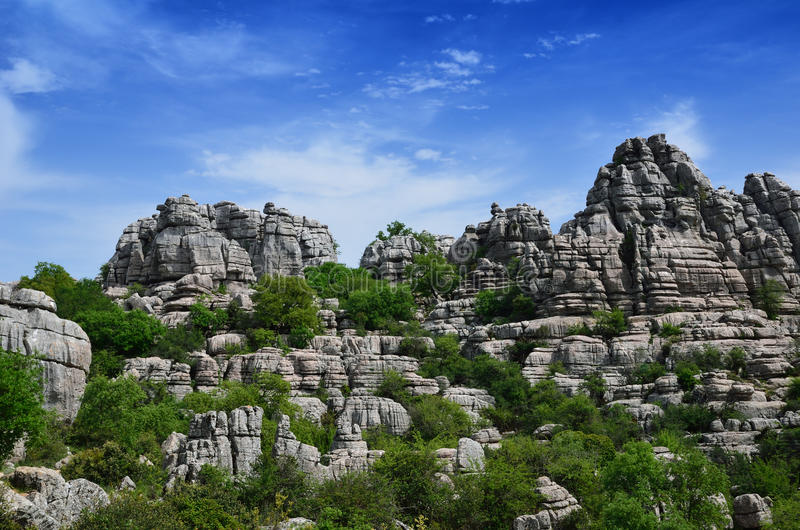 Впечатляющий ландшафт karst стоковая фотография