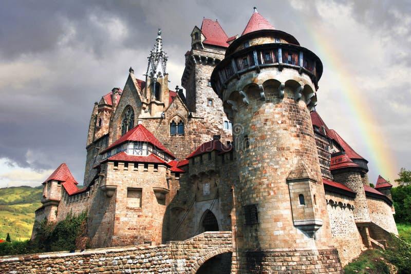 впечатляющий замок Kreuzenstein Австралии стоковые изображения rf