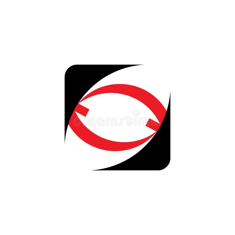 Вписанный логотип стрелки иллюстрация вектора