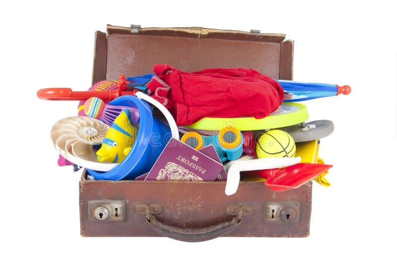 вполне раскройте каникулу лета чемодана стоковые изображения