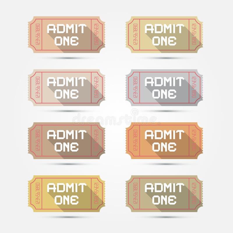 Впустите одну иллюстрацию билета иллюстрация вектора
