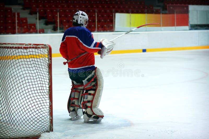 Вратарь хоккея стоковые изображения