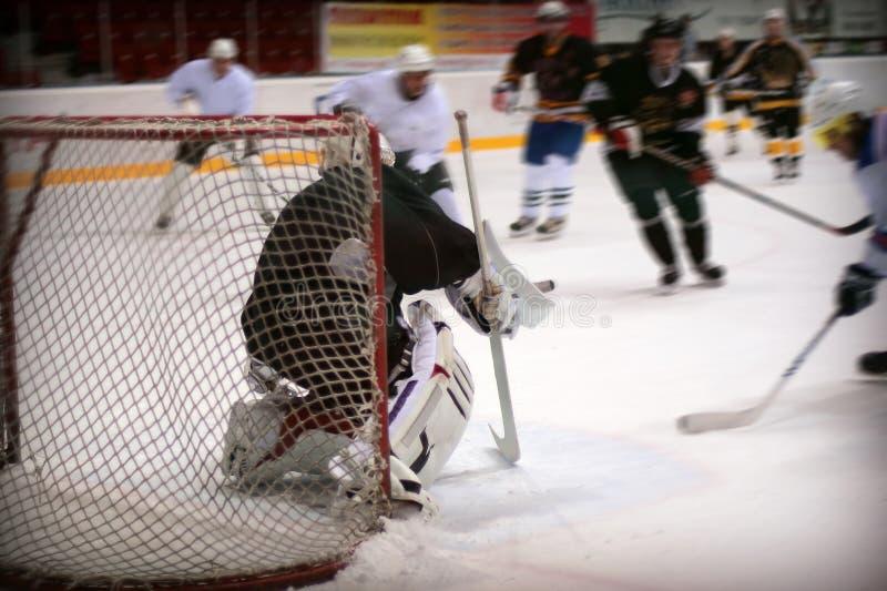 Вратарь хоккея стоковые изображения rf