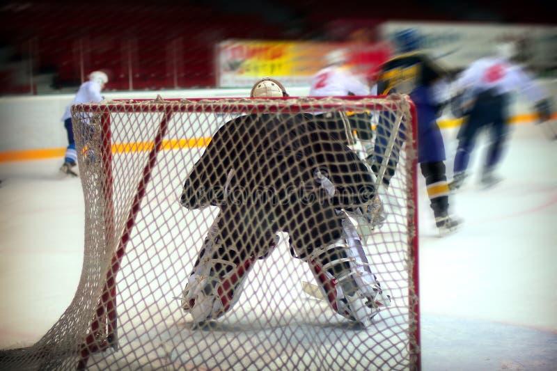 Вратарь хоккея стоковое изображение rf
