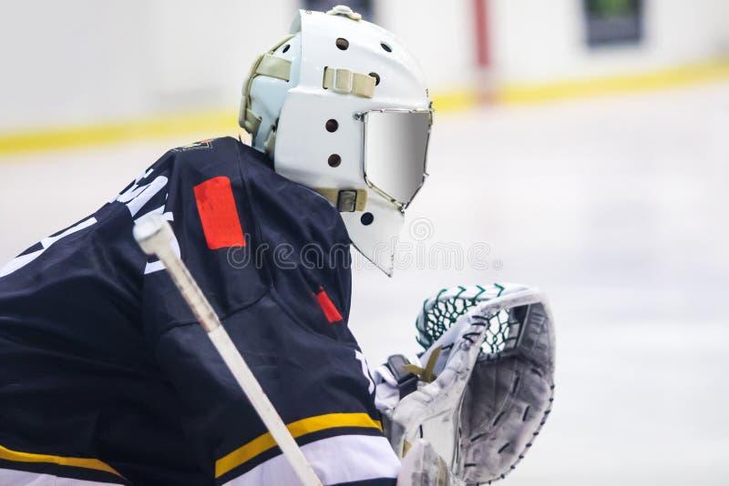 Вратарь хоккея Merano стоковые изображения rf