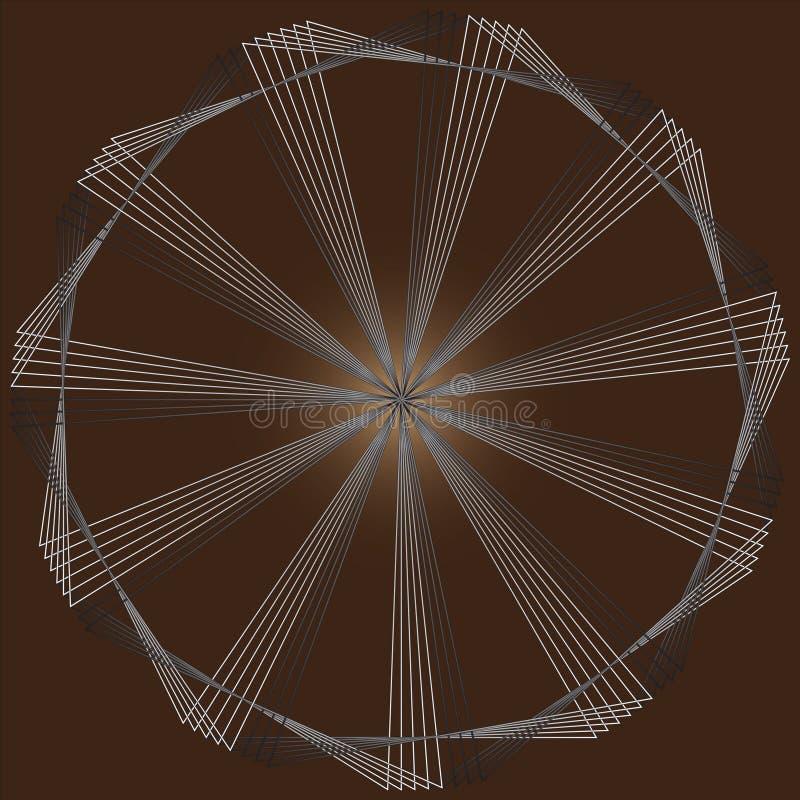 Вращайте треугольников на коричневой предпосылке бесплатная иллюстрация