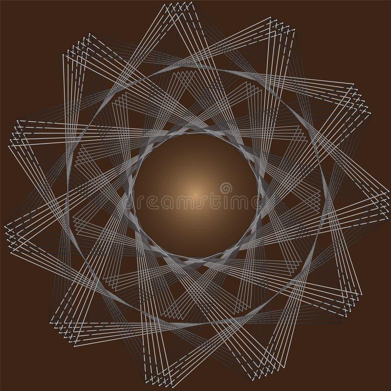 Вращайте треугольников на коричневой предпосылке иллюстрация вектора