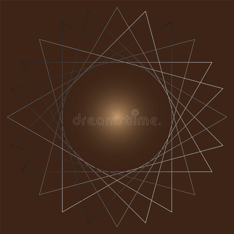 Вращайте треугольников на коричневой предпосылке иллюстрация штока