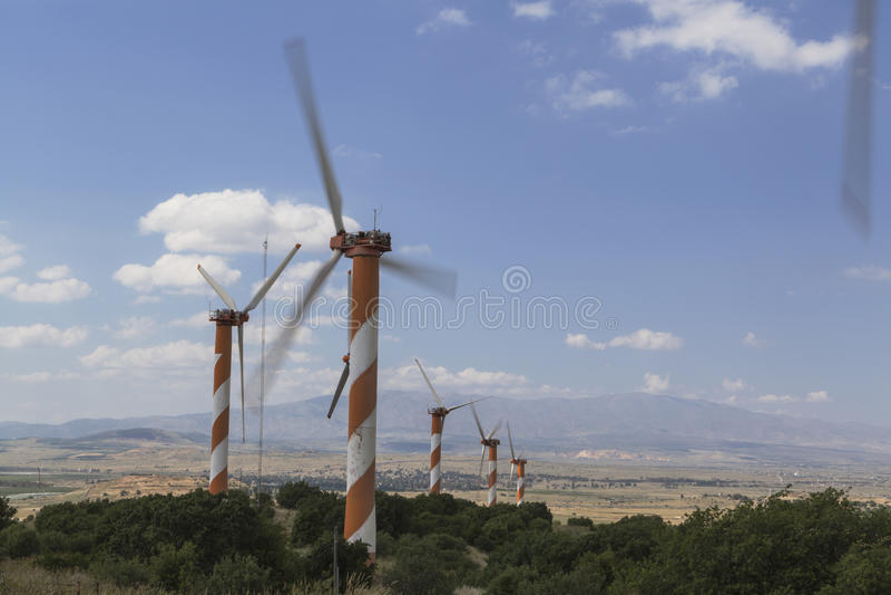 Вращая ветрянка стоковые изображения