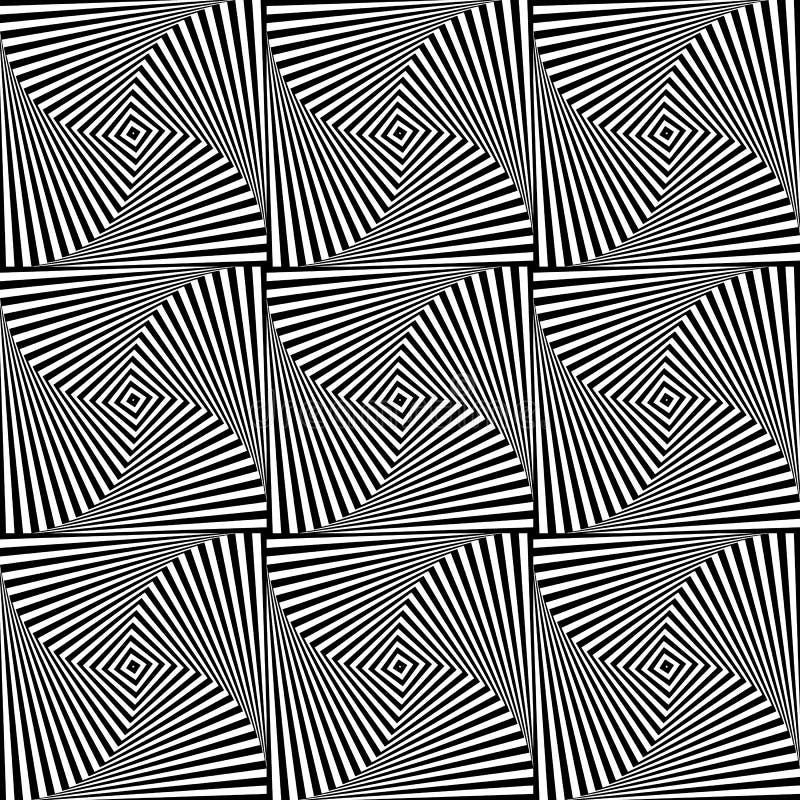 Download Вращая картина квадратов Repeatable абстрактная Monochrome текстура Иллюстрация вектора - иллюстрации насчитывающей минимально, monochrome: 81811052