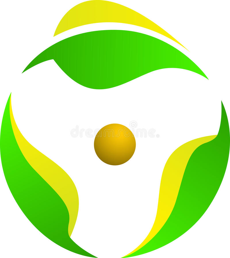 вращение логоса листьев иллюстрация вектора
