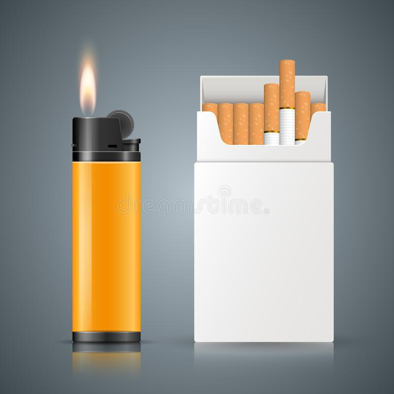 Вредная сигарета, гадюка, дым, infographics дела иллюстрация вектора