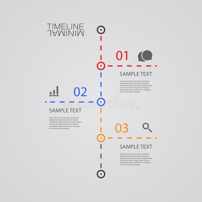 Временная последовательность по Infographic вектора - шаблон дизайна отчета иллюстрация штока