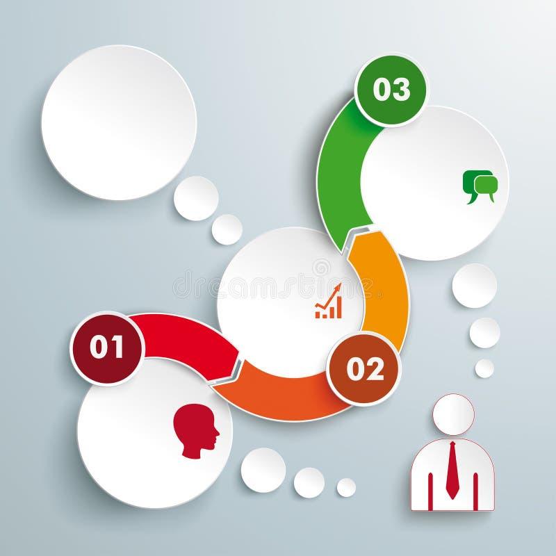 Временная последовательность по Infographic кругов волны 3 бесплатная иллюстрация