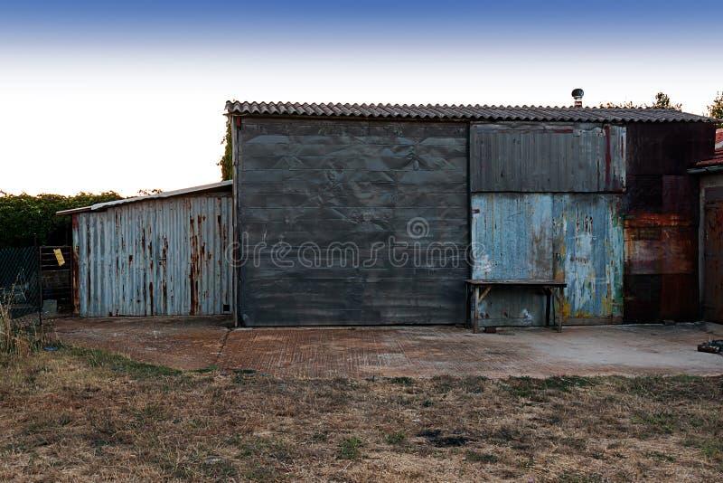 Временный амбар стоковое фото rf