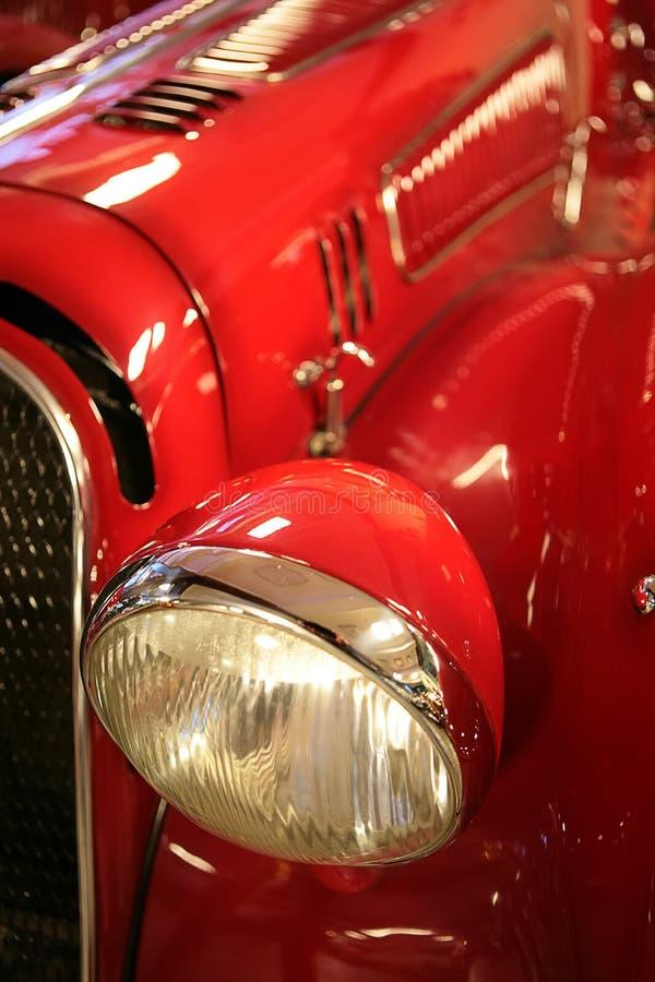 время автомобиля старое красное Стоковое фото RF