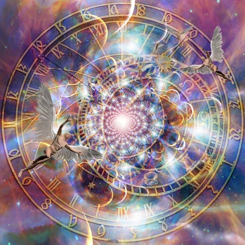 Время ангелов иллюстрация вектора
