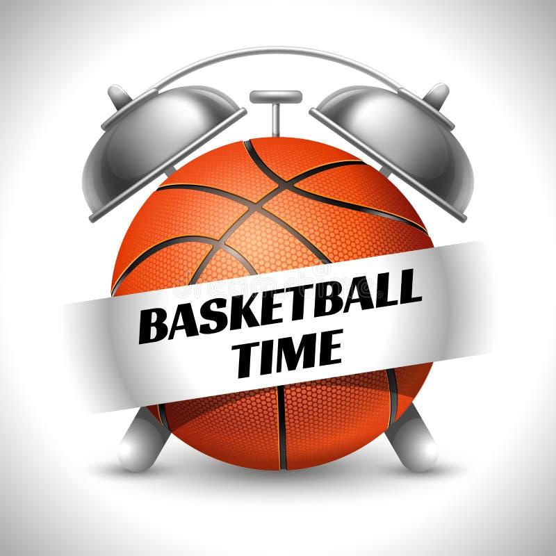 Время баскетбола иллюстрация вектора