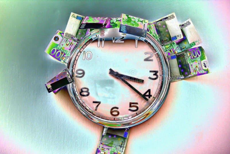 Время бежит вне для покупки последних настоящих моментов, с остальными деньгами иллюстрация штока