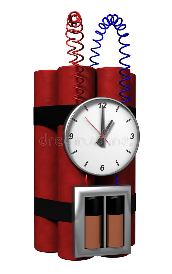 время бомбы иллюстрация вектора