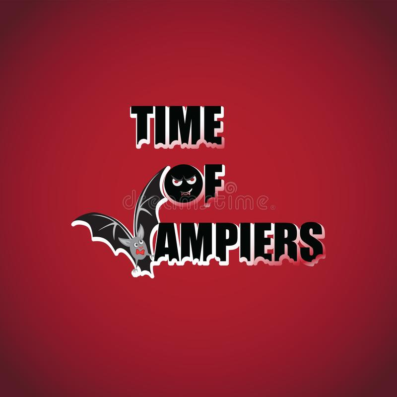 Время вампиров batavia halloween счастливый иллюстрация вектора