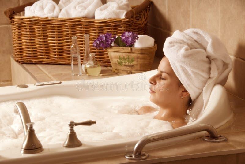 время ванны стоковые изображения rf