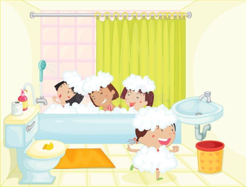 Время ванны бесплатная иллюстрация