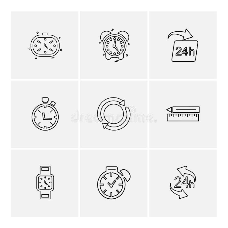 время, вахта, часы, сигнал тревоги, времена, таймер, значки eps установило vec бесплатная иллюстрация
