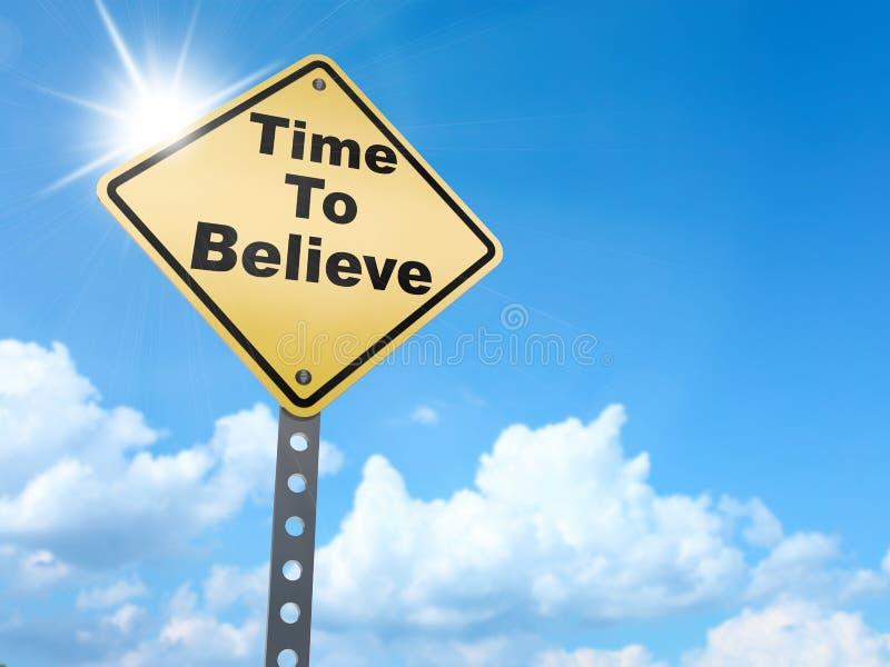Время верить знаку иллюстрация вектора
