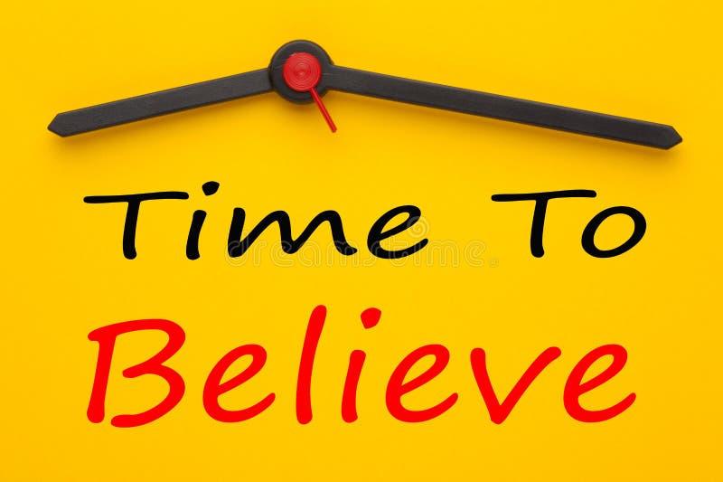 Время верить стоковые изображения