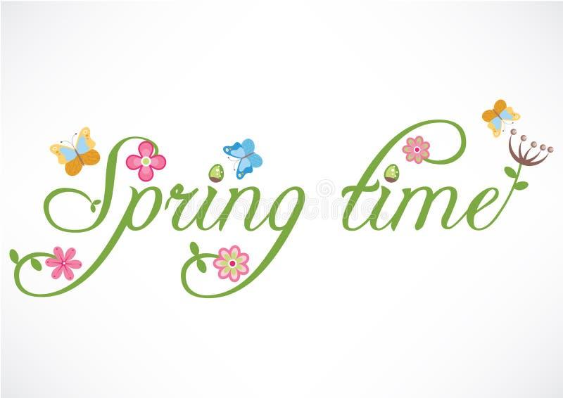 Время весны формулирует иллюстрацию иллюстрация штока
