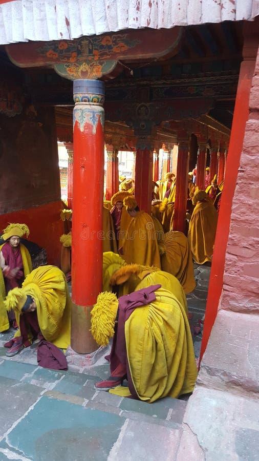 Время в Тибете стоковые изображения