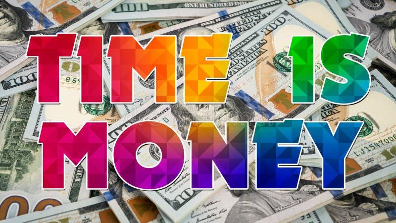 Время график 009 денег - белая предпосылка бесплатная иллюстрация