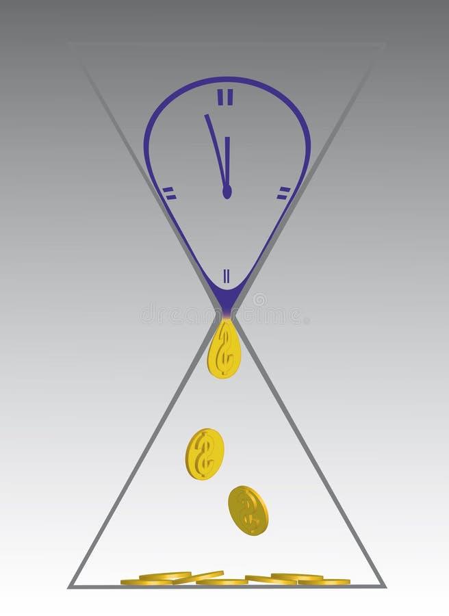 время дег иллюстрация вектора
