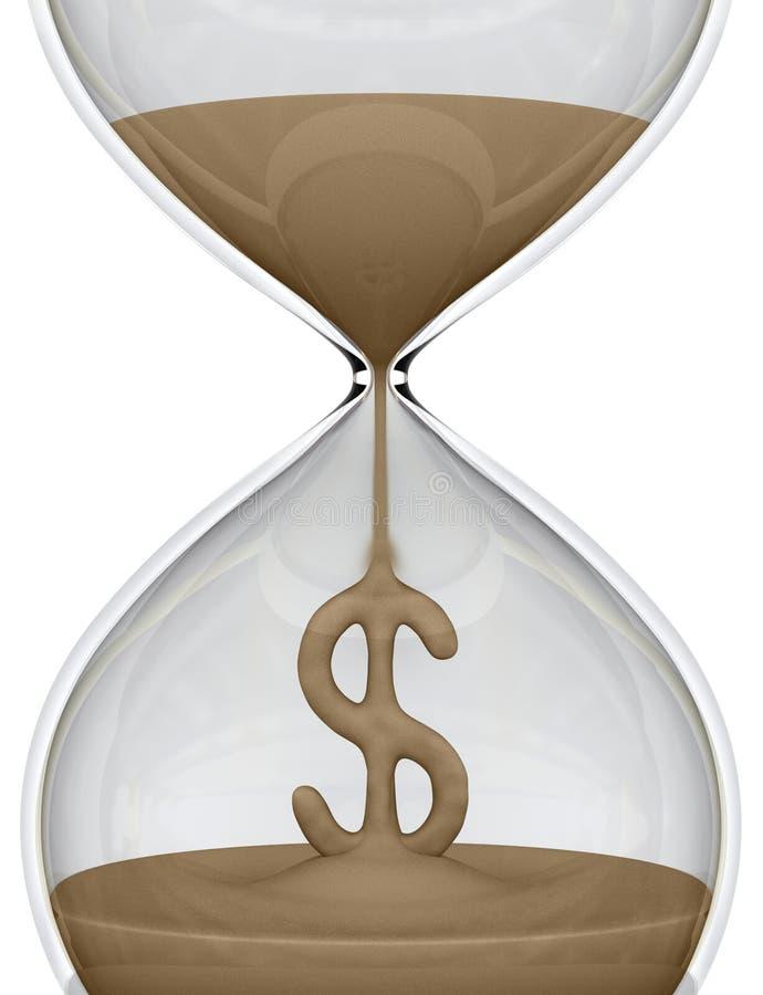 время дег hourglass иллюстрация штока