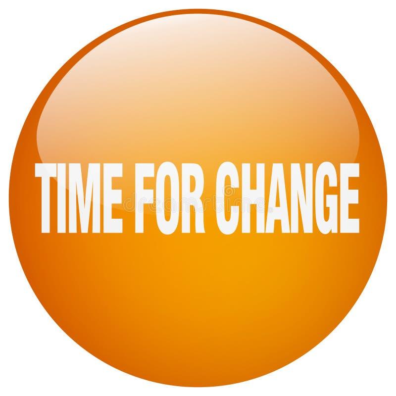 время для кнопки изменения иллюстрация вектора