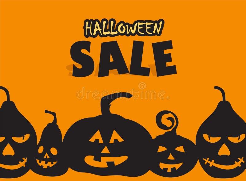 Время для продажи хеллоуина бесплатная иллюстрация