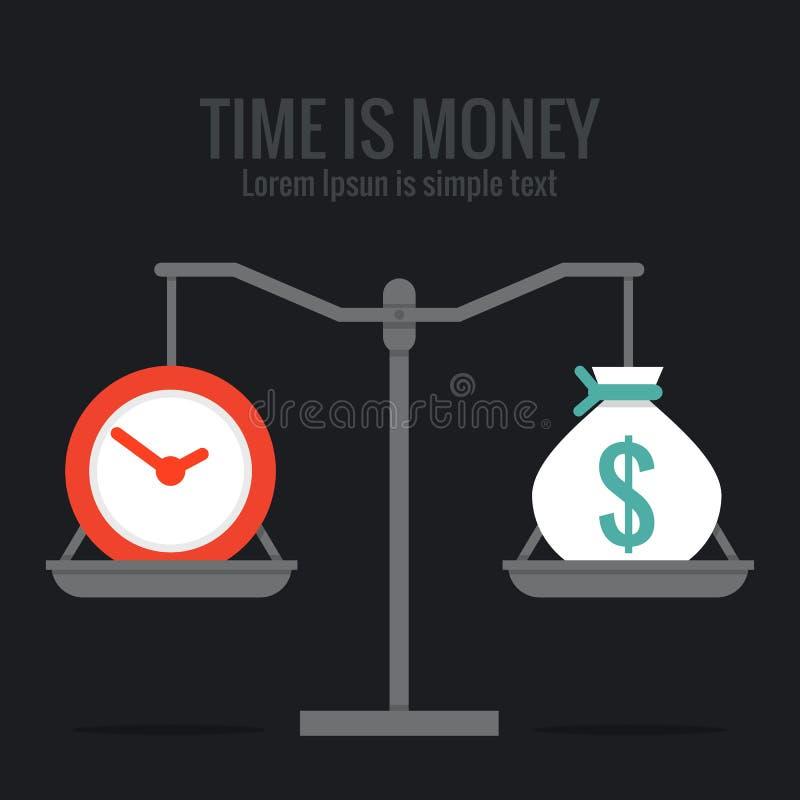 Время деньги иллюстрация штока