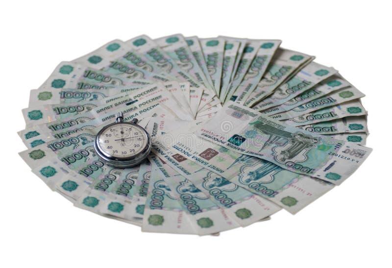 Время деньги стоковая фотография rf