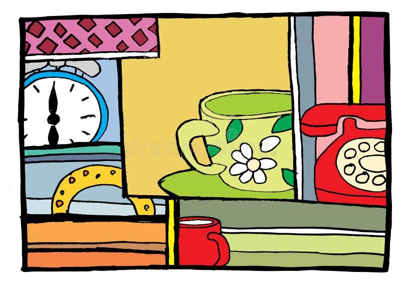 время завтрака к иллюстрация вектора