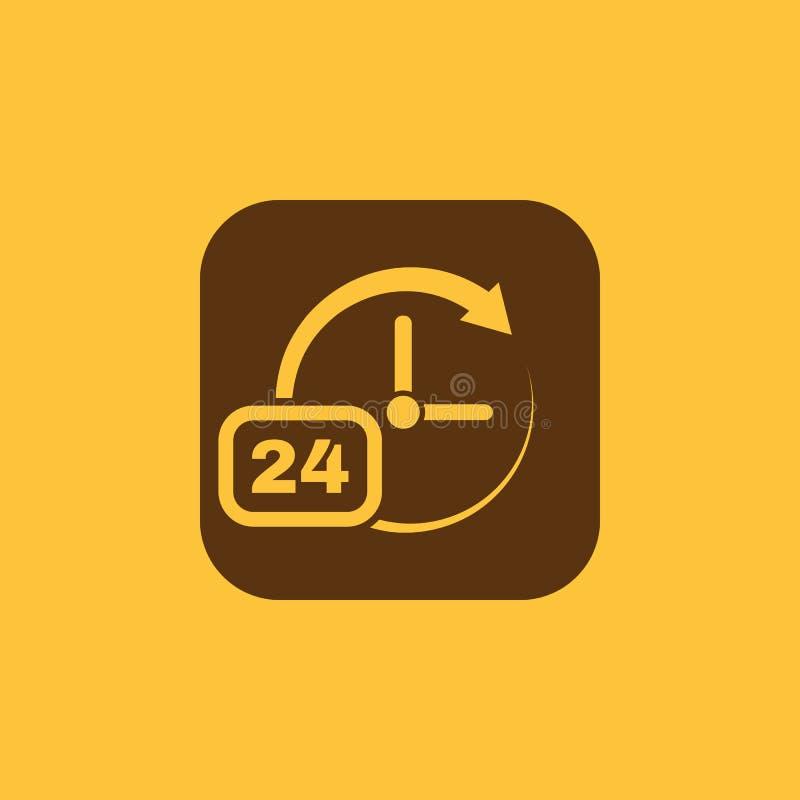 Время, значок часов Время и вахта, таймер, 24 часа символа Ui Веб логос Знак Плоский дизайн _ шток бесплатная иллюстрация
