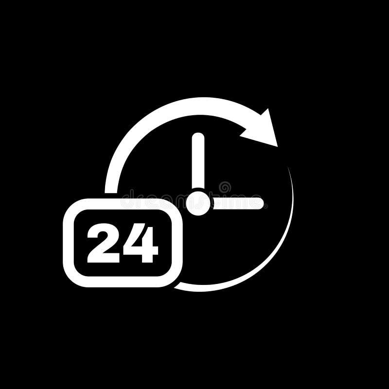 Время, значок часов Время и вахта, таймер, 24 часа символа Ui Веб логос Знак Плоский дизайн _ шток иллюстрация вектора